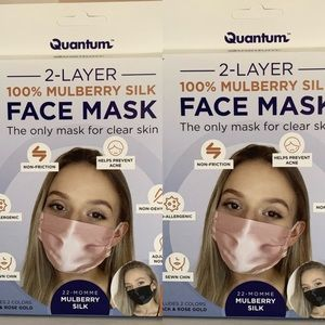 4 Mask In Total Mulberry Silk Mask 2-Pack Bundle